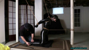 Masha Catsuit Captive in the Basement Dungeon!